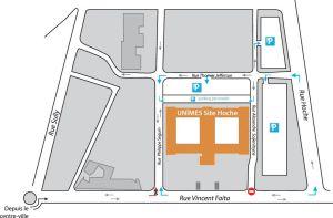 plan accès Hoche Unimes